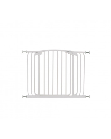 ZOE EXTRA-WIDE HALLWAY AUTO-CLOSE PET SECURITY GATE - WHITE