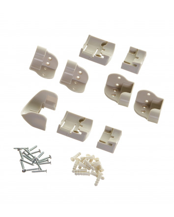 REPLACEMENT MOUNTING SET FOR WHITE RETRACTABLE GATE