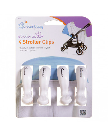 STROLLERBUDDY® STROLLER CLIPS 4 PACK - WHITE