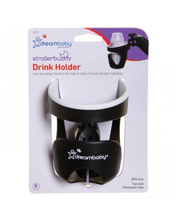 STROLLERBUDDY® DRINK HOLDER -BLACK/CREAM TRIM