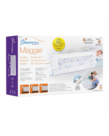 MAGGIE BED RAIL, FITS RECESSED, FLAT & SLAT BED BASES – WHITE