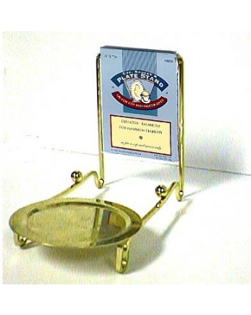 BRASS CUP, SAUCER & PLATE STAND