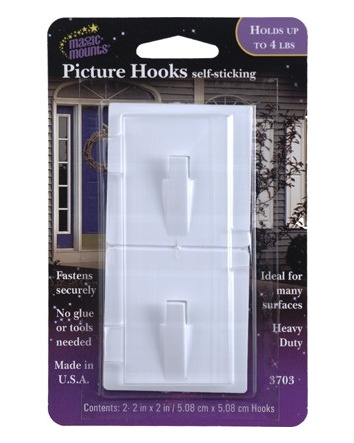 PICTURE HOOKS SELF-STICK 2 PACK