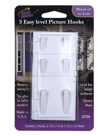 EASY-LEVEL PICTURE HOOKS 3 PACK