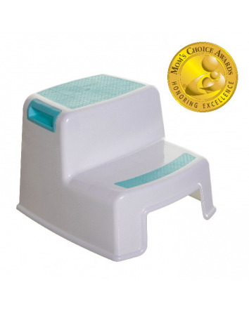 2-UP STEP STOOL AQUA & WHITE