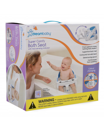 DELUXE BATH SEAT WITH FOAM PADDING & HEAT SENSING INDICATOR