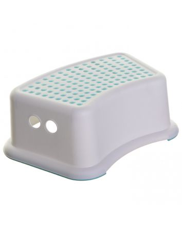 STEP STOOL DOTS AQUA