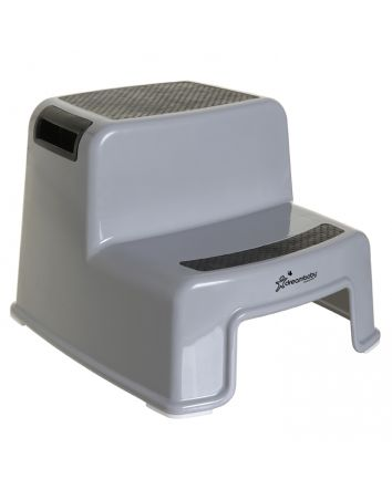 2-UP STEP STOOL BLACK & GREY