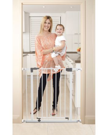 LIBERTY SECURITY GATE WITH SMART STAY-OPEN FEATURE - WHITE