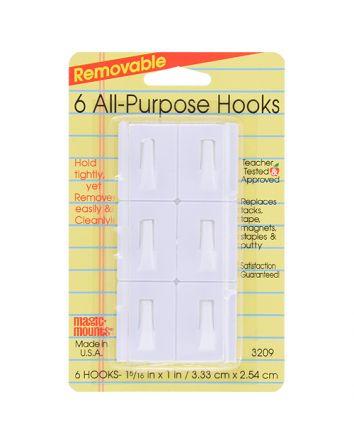 6 ALL-PURPOSE HOOKS