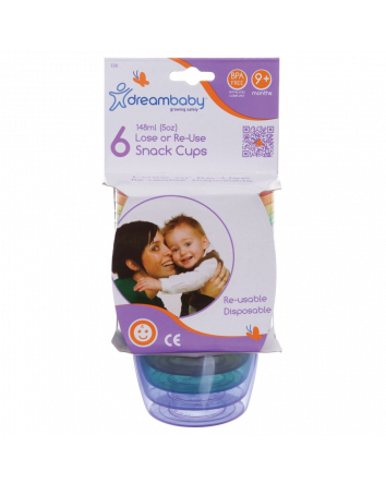 LOSE OR RE-USE SNACK CUPS 6 PK